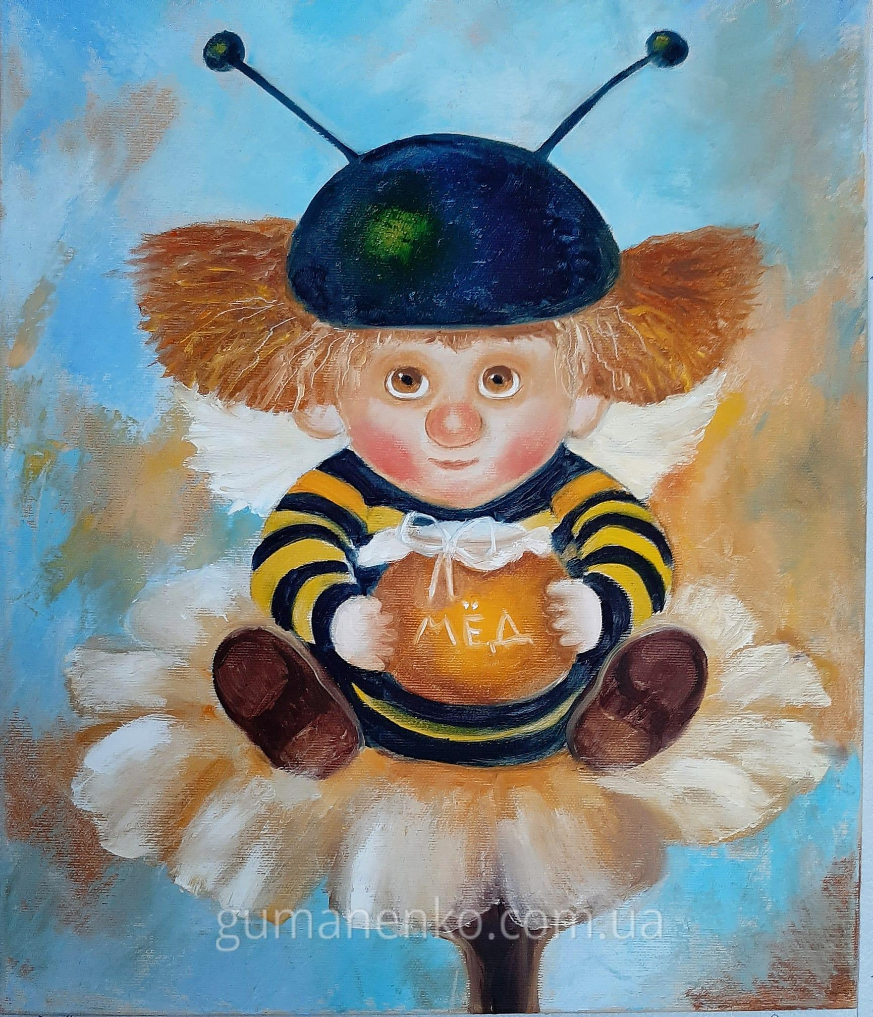 """Картина """"Милый ангелочек"""", холст 40х50 см., масло."""