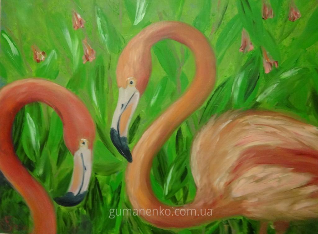 Фламинго 35х45см.