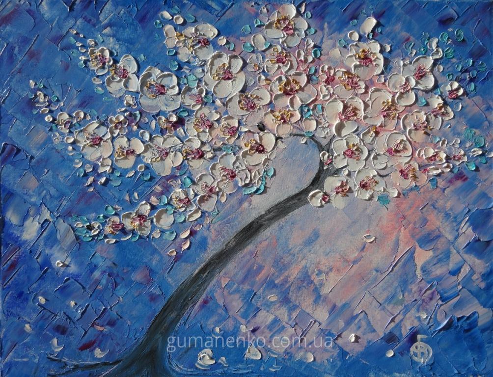 Цветущая вишня 2