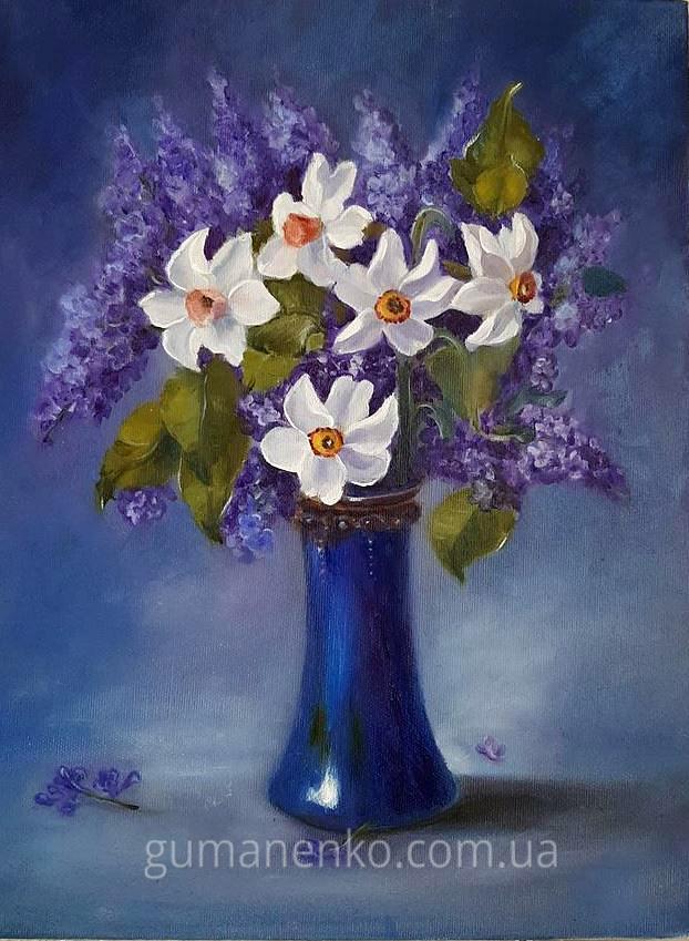 Картина Аромат весны холст 30х40 см., масло.