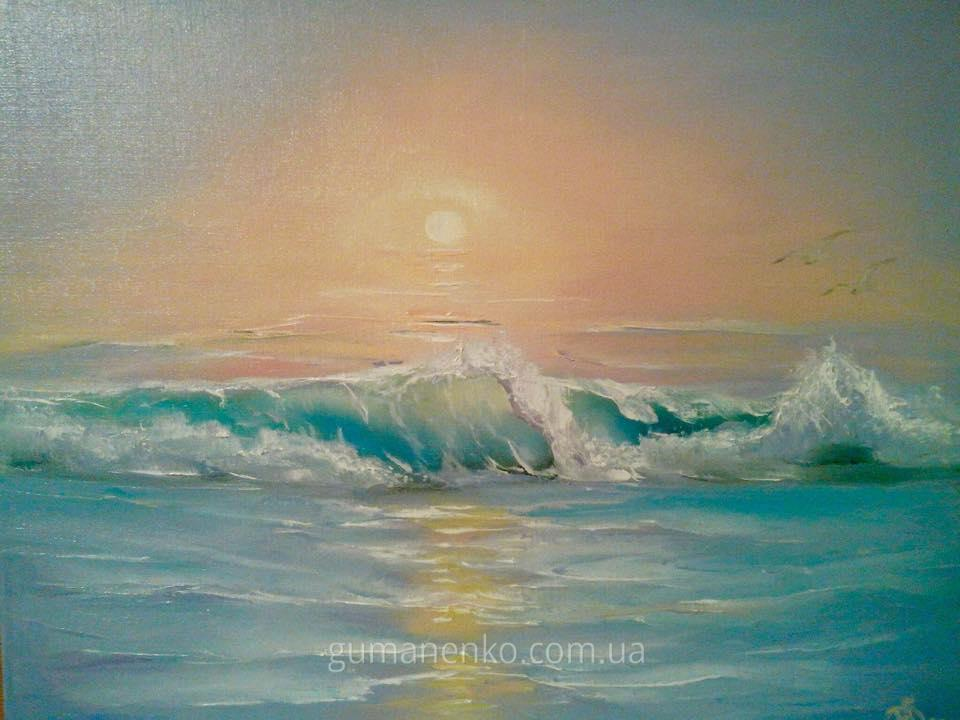 "Картина ""Рассвет"", холст 45х35 см., масло."