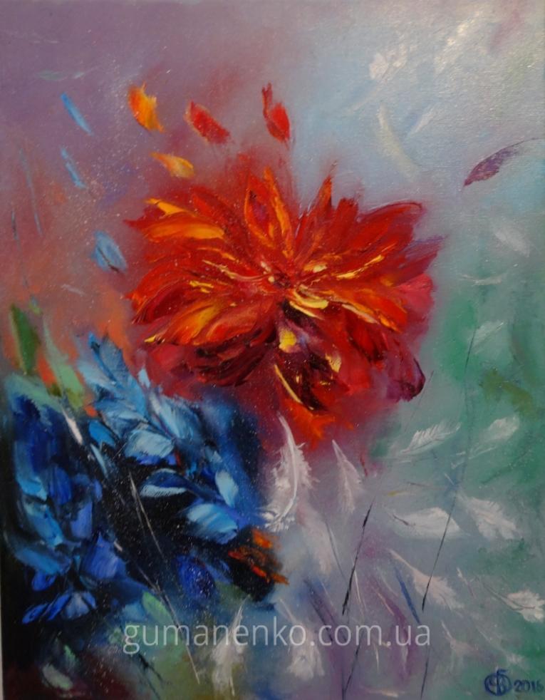 """Картина """"Крылья ангела"""",  холст 35х45 см., масло."""